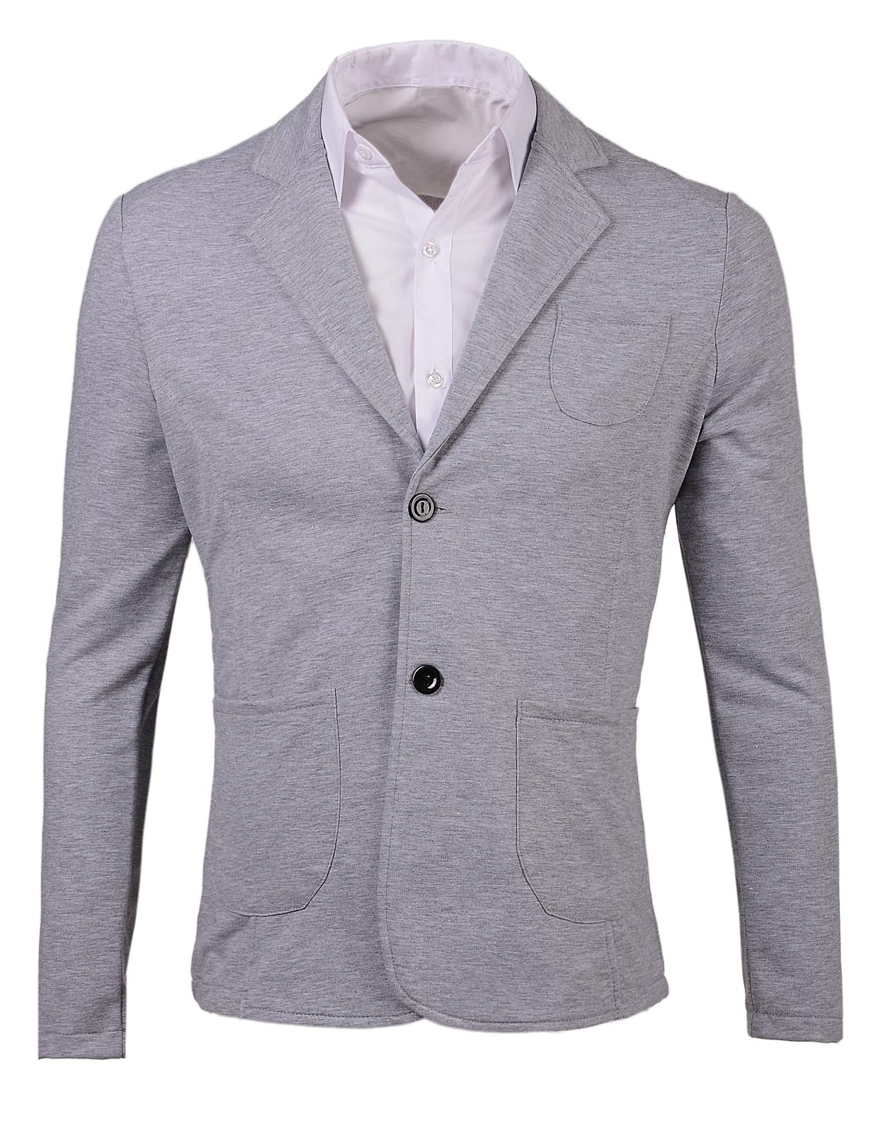 Мъжко сиво памучно сако